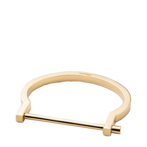 MIANSAI - MODERN SCREW CUFF BRACELET - GOLD PALATED - POLISHED