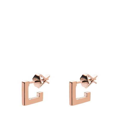 MIANSAI - SQUARE BAR STUD - ROSE GOLD-VERMEIL - POLISHED