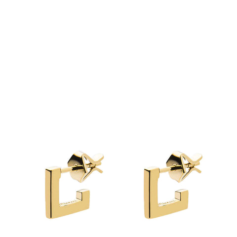 MIANSAI - SQUARE BAR STUD  GOLD - VERMEIL - POLISHED