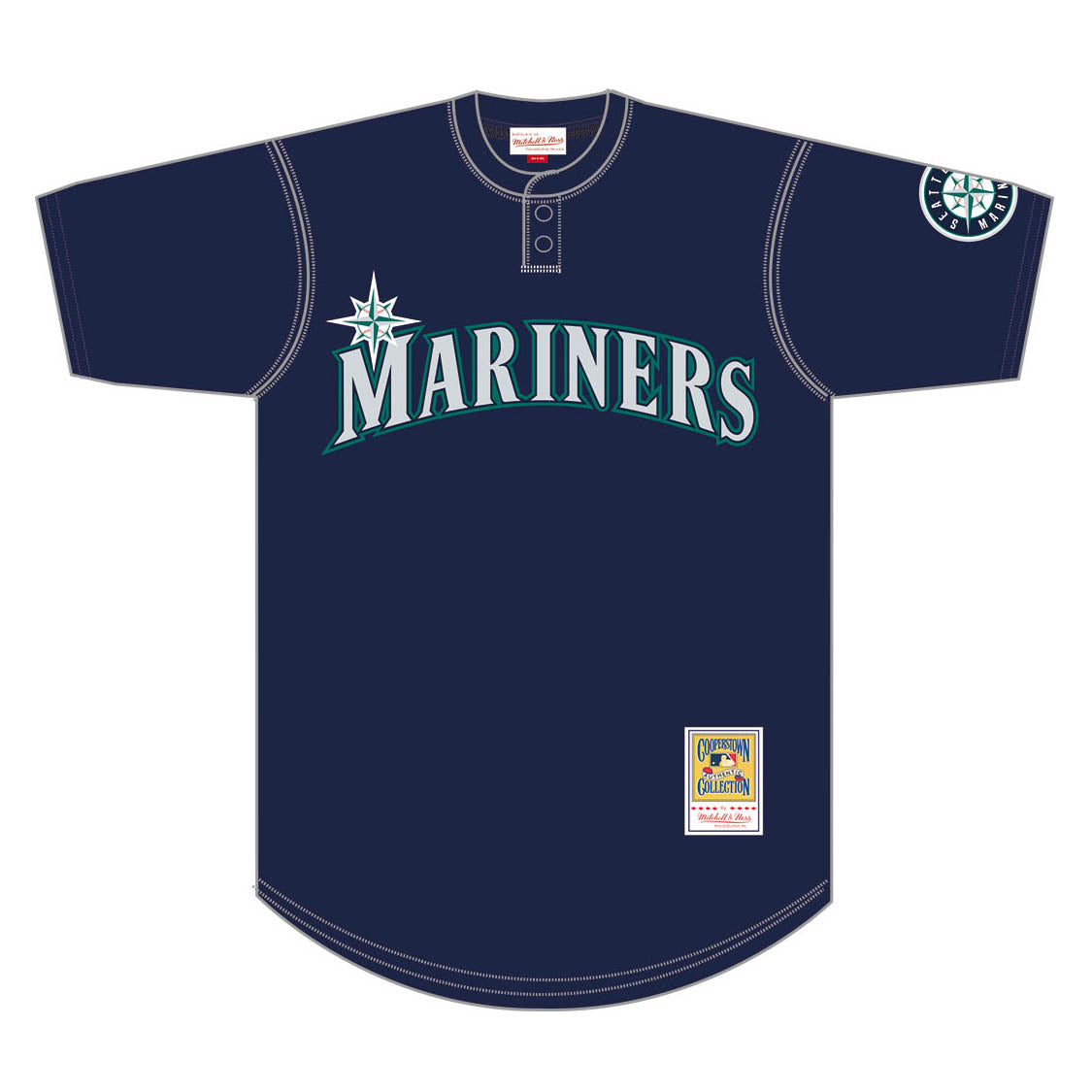 new products bac05 af180 MITCHELL & NESS - AUTH MESH BP JERSEY 1995 MARINERS KEN GRIFFEY JR - Blue