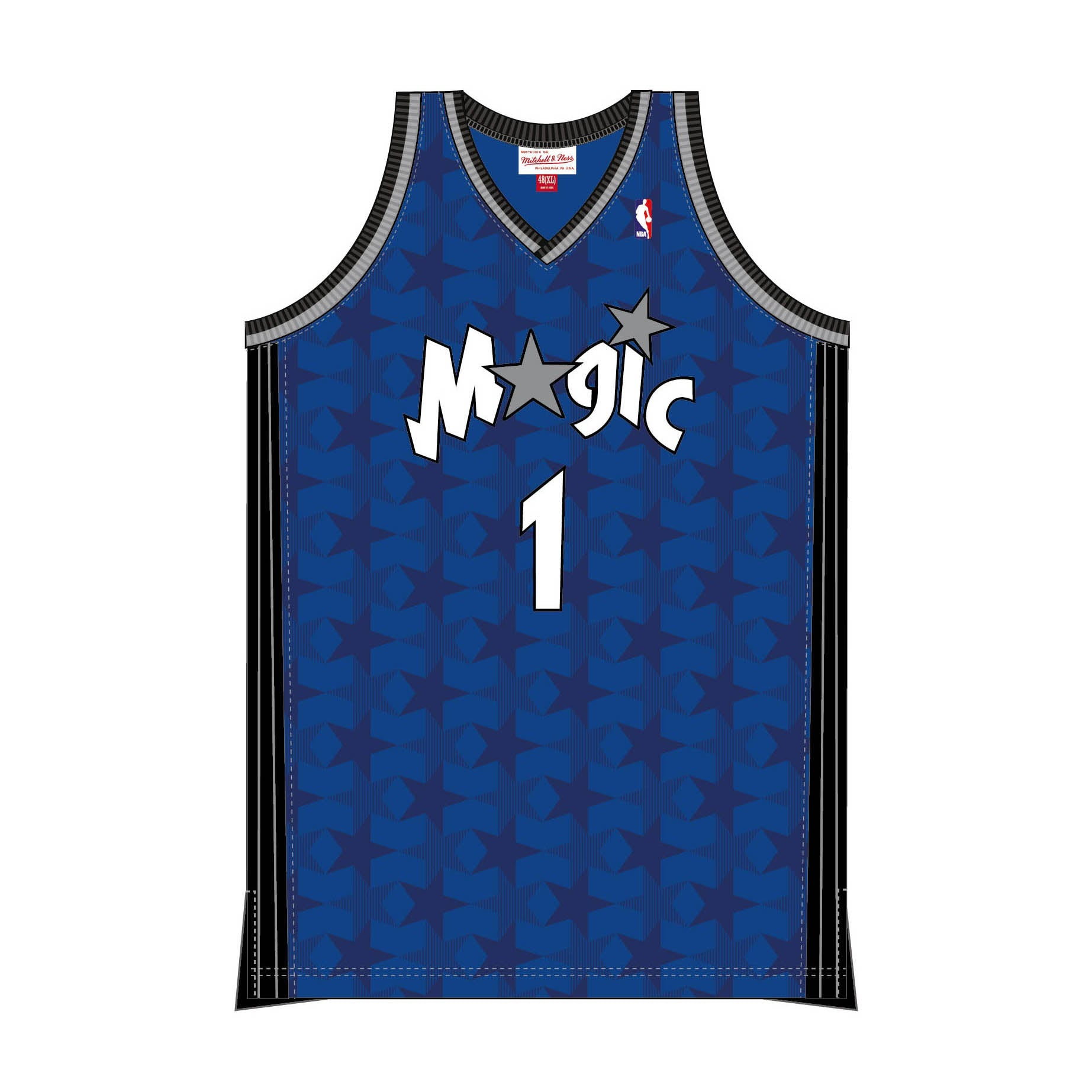 acfc3dd2 MITCHELL & NESS - SWINGMAN JERSEY MAGIC TRACY MCGRADY - Magic Blue ...