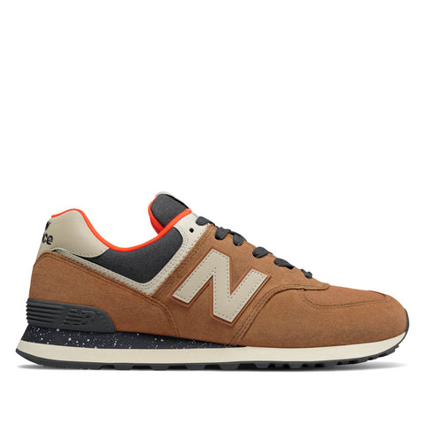 NEW BALANCE - 574 HI-VIZ - BROWN SUGAR WITH DYNAMITE - Ateaze USA