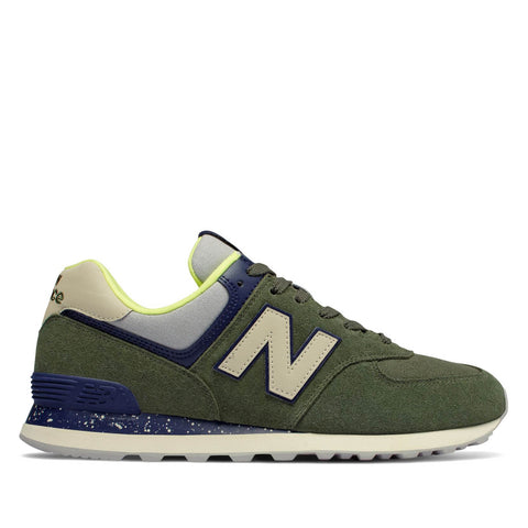 NEW BALANCE - 574 HI-VIZ - DARK COVERT GREEN WITH PIGMENT