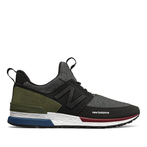 NEW BALANCE - 574 SPORT - BLACK WITH COVERT GREEN