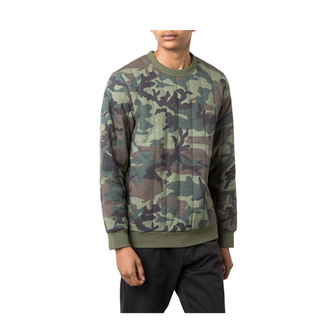 STUSSY - QUILTED CREW NECK - CAMO