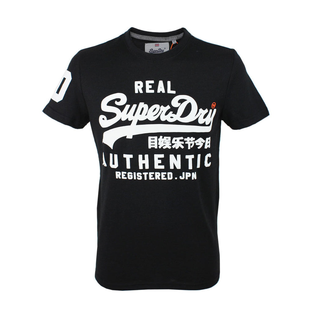 Superdry Vintage Authentic Duo Tee Tonal Black Grit