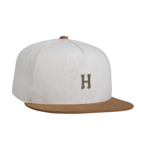 HUF - METAL H STRAPBACK - OFF WHITE