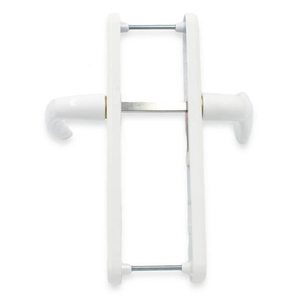 UPVC White Door Handle Set 92PZ Sprung Lever Pad PVC 215mm Fix Hoppe Atlanta -  - Hoppe - UPVCSTORE