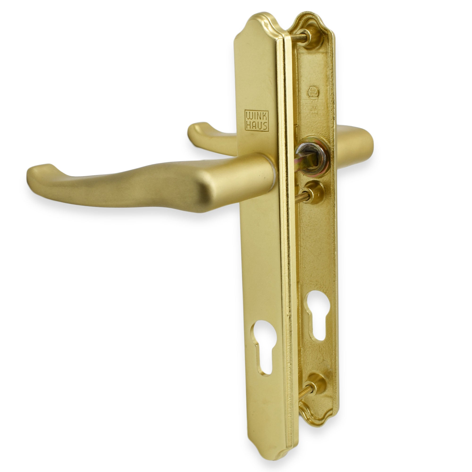 Winkhaus Palladio 3 Screw Hole Upvc Composite Door Handle - Lever Lever in gold -  - Winkhaus - UPVCSTORE