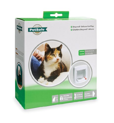 PetSafe Cat Flap, Microchip Operated and Manual, Easy Install, 4 Way Locking -  - Petsafe - UPVCSTORE