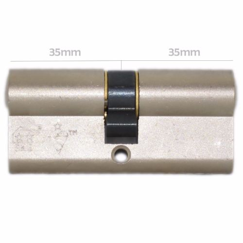 ISEO 1 Star High Security Keyed A Like 35 35 70mm Overall Nickel Euro Door Lock -  - ISEO - UPVCSTORE