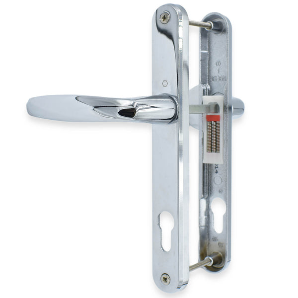UPVC Chrome Door Handle Set 92PZ Sprung Lever Pad PVC 215mm Fix Hoppe Atlanta -  - Hoppe - UPVCSTORE