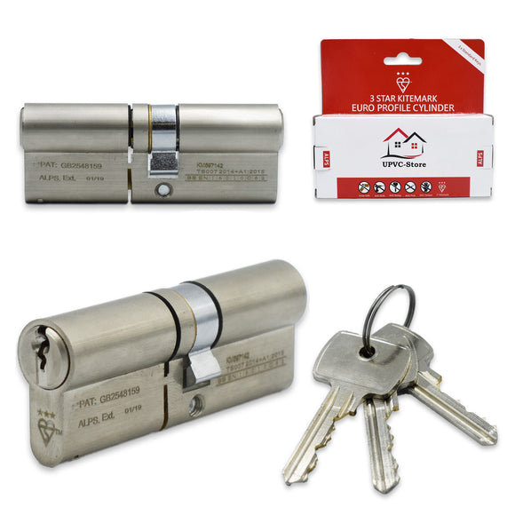 UPVCSTORE Alps 3 Star High Security Door Lock Euro Profile Cylinder -  - UPVCSTORE - UPVCSTORE