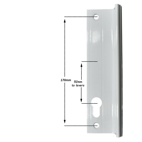 Genuine Fullex Patio Door Handle 52pz 170mm Screw Fix Grey 506 Series 2 -  - Fullex - UPVCSTORE
