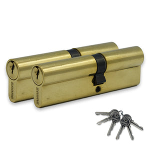 Sabra 6 Pin Anti Drill Keyed A Like Brass Cylinders ( 45 / 55 ) -  - Sabra - UPVCSTORE