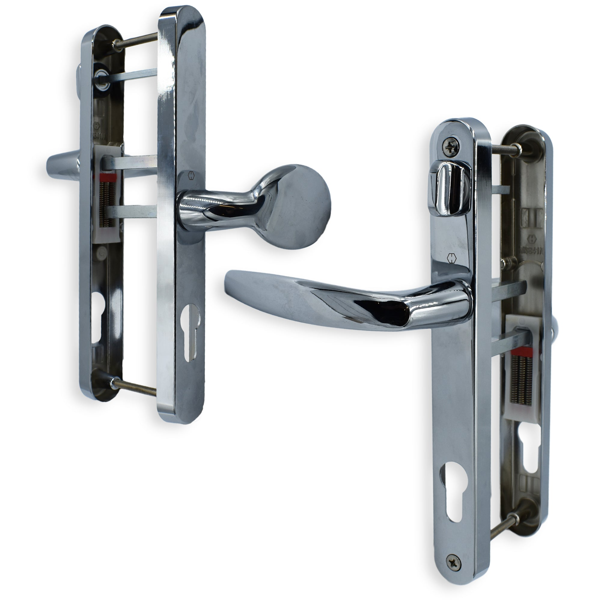 HOPPE UPVC DOOR HANDLE OFFSET 92mm 62mm PZ WITH SNIB 215mm CENTERS -  - Hoppe - UPVCSTORE
