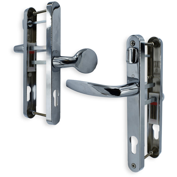 HOPPE UPVC DOOR HANDLE OFFSET 92mm 62mm PZ WITH SNIB 215mm CENTERS -  - UPVCSTORE - UPVCSTORE