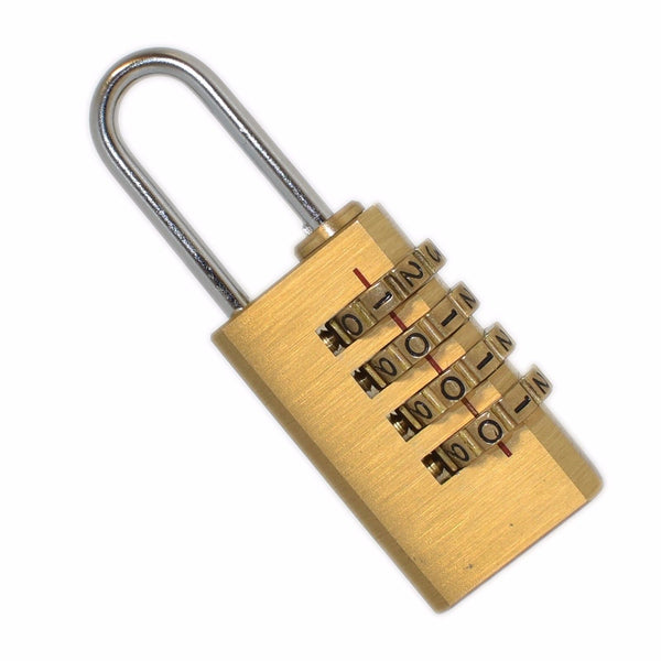 Brass Combination 20mm Padlock Hardened Steel Suitcase Fort Knox -  - FORTKNOX - UPVCSTORE