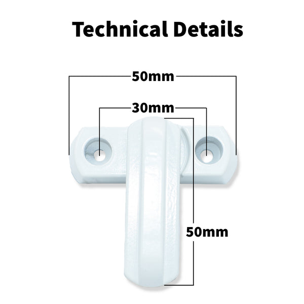 2 x Sash Jammer UPVC PVC Window Door Lock, High Security Arm -  - WP - UPVCSTORE