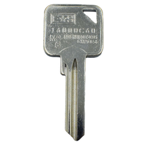 Security Key 6 pin key blanks 1 Star ES Grade 6 1600C60 -  - UPVCSTORE - UPVCSTORE