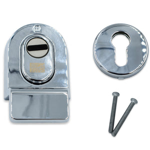 Polished Chrome PAS24 High Security Cylinder Pull Front Door -  - Winkhaus - UPVCSTORE