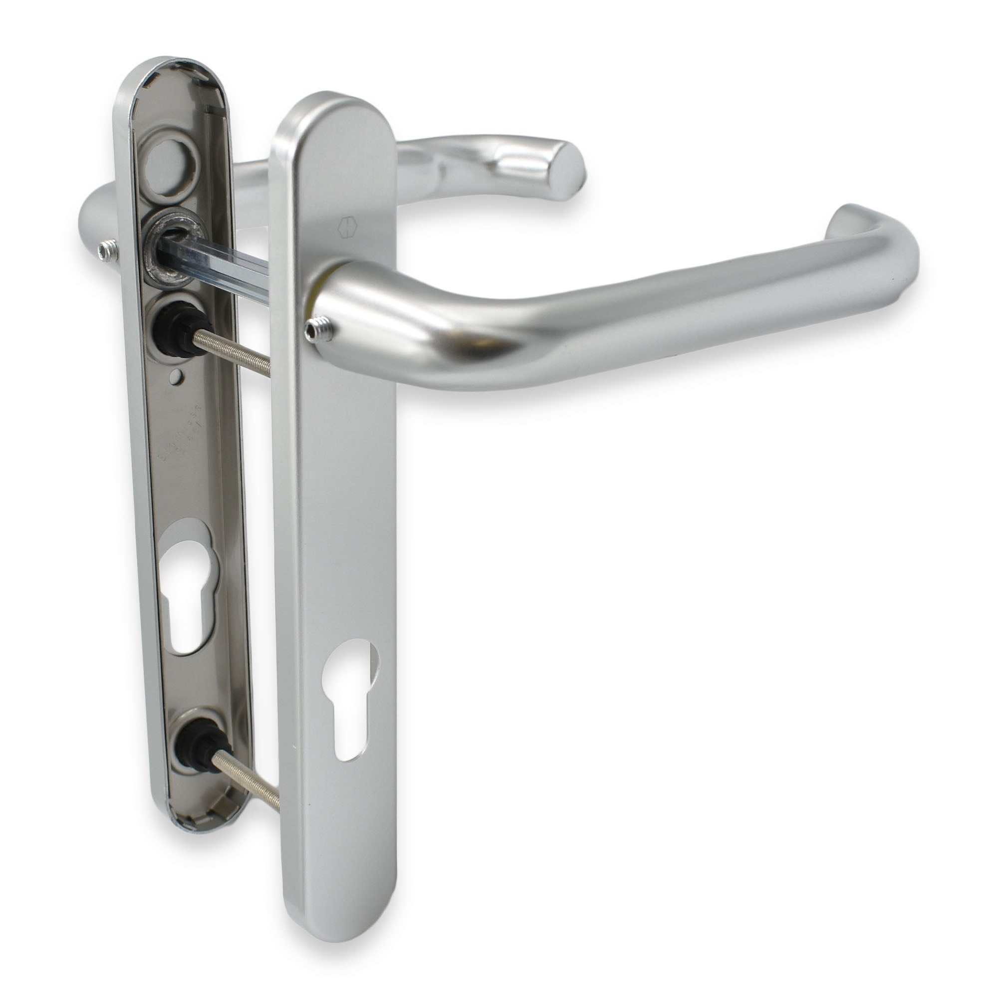 Hoppe Paris Long Lever 92pz 215mm Backplate 122mm Screws Upvc Door Handles -  - Hoppe - UPVCSTORE
