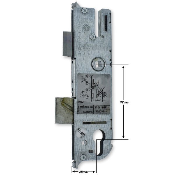 GU New Style 35mm Door Lock Upvc Double Glazing Gear Box Lock Centre Case PVC -  - GU - UPVCSTORE