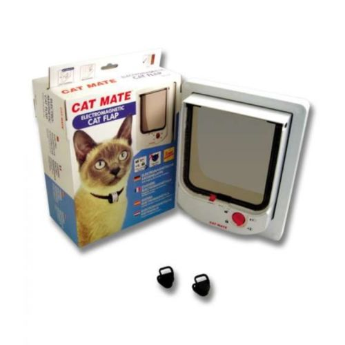 Pet Mate Electromagnetic Cat Flap Door White 254 White -  - Cat Mate - UPVCSTORE