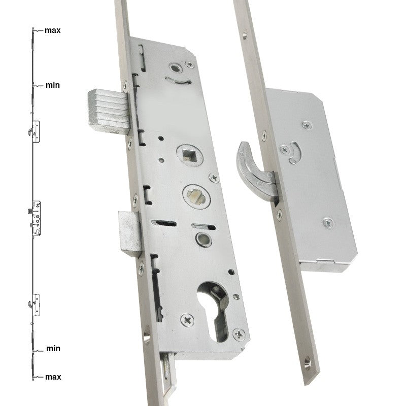 Avantis uPVC French Door Lock 550 Series 2 Hook 2 Roller 16mm Faceplate -  - UPVCSTORE - UPVCSTORE