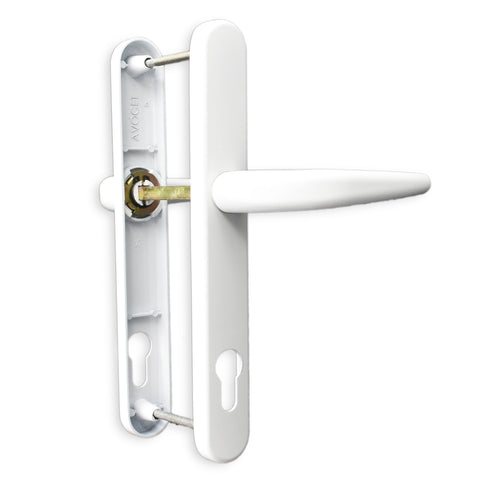 Avocet Upvc Door Handle 204mm Screw Fix 205mm Pioneer Platinum -  - UPVCSTORE - UPVCSTORE