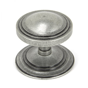 Pewter Art Deco Centre Door Knob -  - From The Anvil - UPVCSTORE
