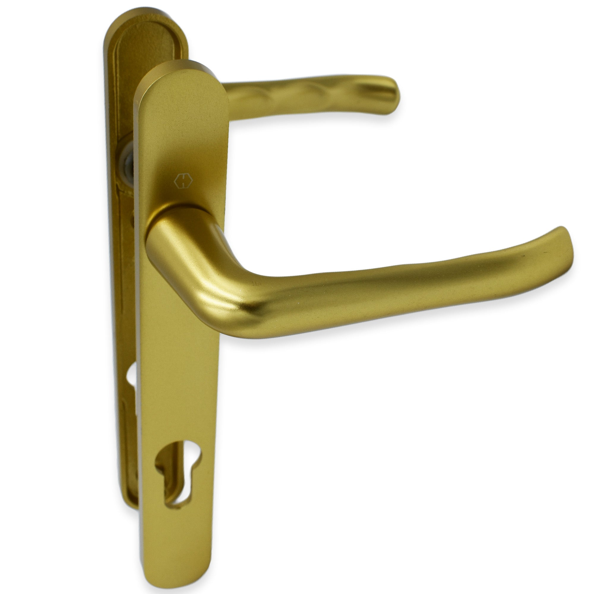 Hoppe Gold 44mm Door uPVC Door Handle 92PZ 122mm Screw Centres -  - Hoppe - UPVCSTORE