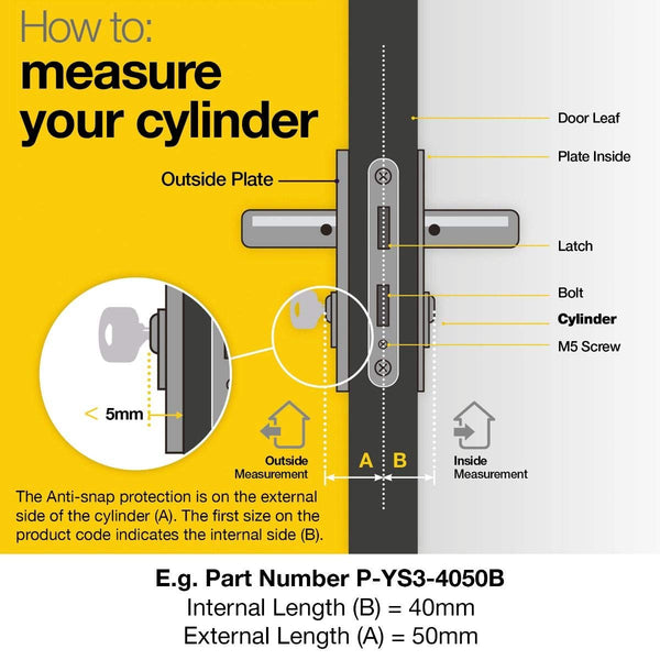 YALE Platinum Thumb Turn Cylinder Lock Anti Snap Bump High uPVC Door Euro Barrel -  - Yale - UPVCSTORE