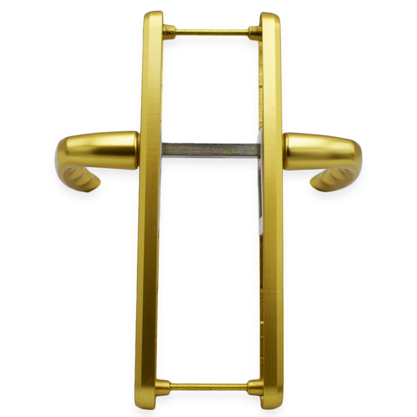 Hoppe Gold 'Atlanta' Pair Handle 92PZ or Fixings Centres 215mm, Anodised -  - Hoppe - UPVCSTORE