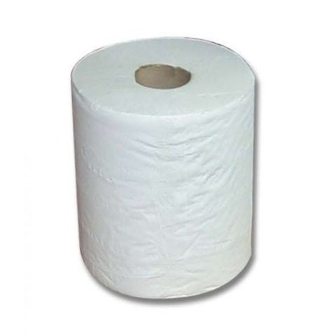 Large White Cleaning Paper Tissue Roll Industrial Size Jumbo Cleaner 2 Ply 150m -  - UPVCSTORE - UPVCSTORE