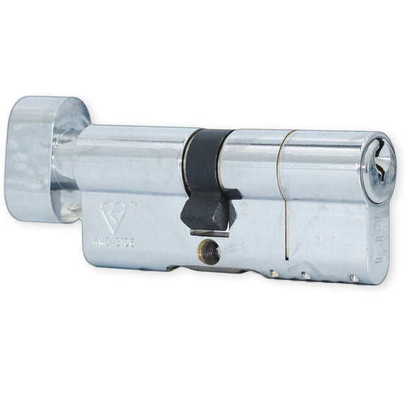 ABC High Security Chrome Thumbturn Euro Cylinder ( 35T / 40 ) -  - UPVCSTORE - UPVCSTORE