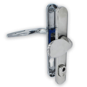 Trojan Polished Chrome Inline Lever Pad PAS24 uPVC Composite Door Handle 92PZ -  - UPVCSTORE - UPVCSTORE