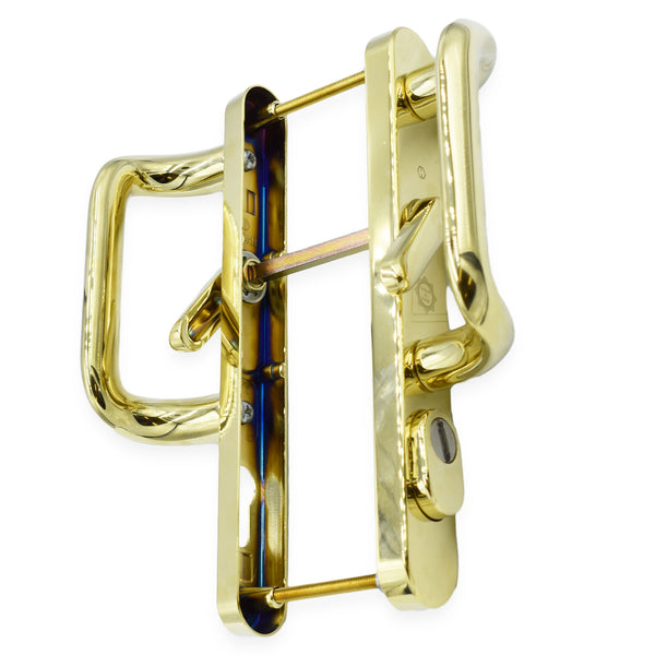 Hoppe High Quality Pas 24  Upvc Sliding Patio Door Handle GOLD 92mm Centres 215mm Fixings -  - Hoppe - UPVCSTORE