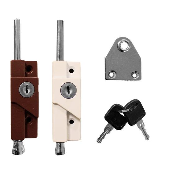MULTI-PURPOSE DOOR BOLT WHITE And Brown Finish -  - UPVCSTORE - UPVCSTORE