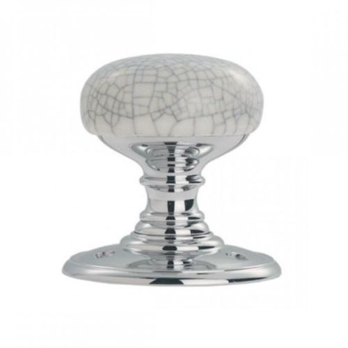 Carlisle Brass - DK34MCCP - Delamain Porcelain Knob - Polished Chrome -  - Carlisle Brass - UPVCSTORE