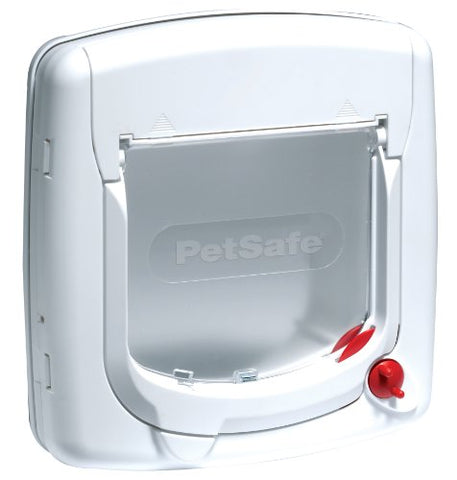 PetSafe Cat Flap, Microchip Operated and Manual, Easy Install, 4 Way Locking -  - UPVCSTORE - UPVCSTORE