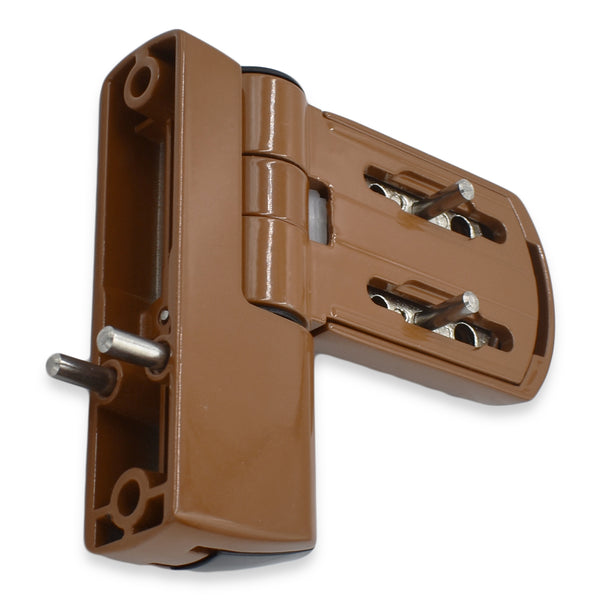 TROJAN PATRIOT FLAG HINGE IN OAK BROWN FOR UPVC DOOR -  - UPVCSTORE - UPVCSTORE