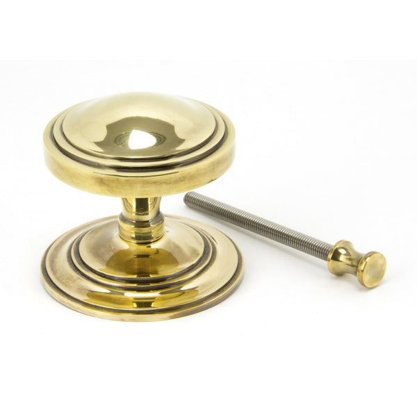 Aged Brass Art Deco Centre Door Knob -  - From The Anvil - UPVCSTORE