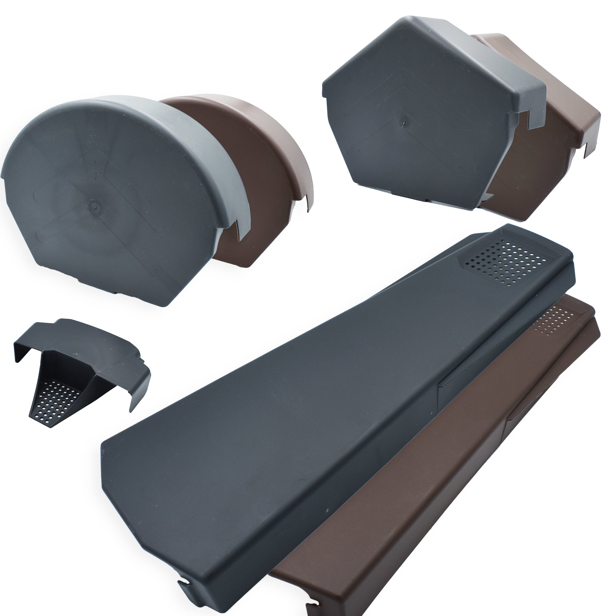 Universally Handed Fast Fit System for Gable Apex Roof Tiles Black Dry Verge