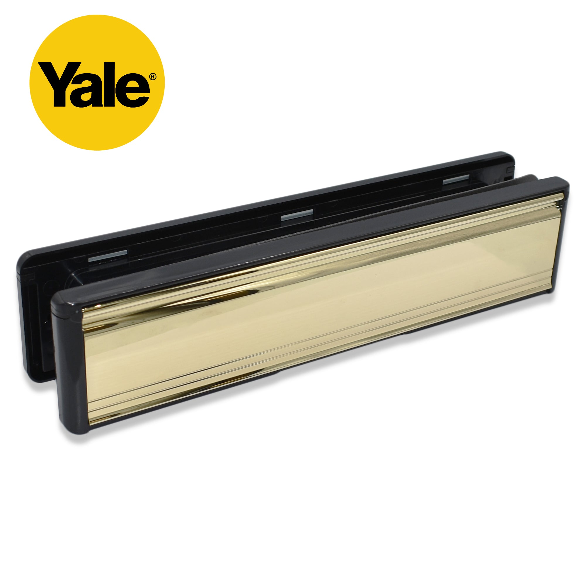 "Yale 12"" LETTERPLATES Brass Chrome Letter Box Cover Plate UPVC Wood Door -  - Yale - UPVCSTORE"