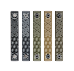 Five rail covers with honeycomb and dragon scale textures in the five available colors.