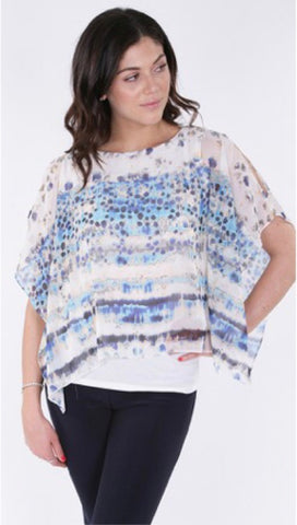 Michael Tyler Cold Shoulder Poncho with Built-in Liner