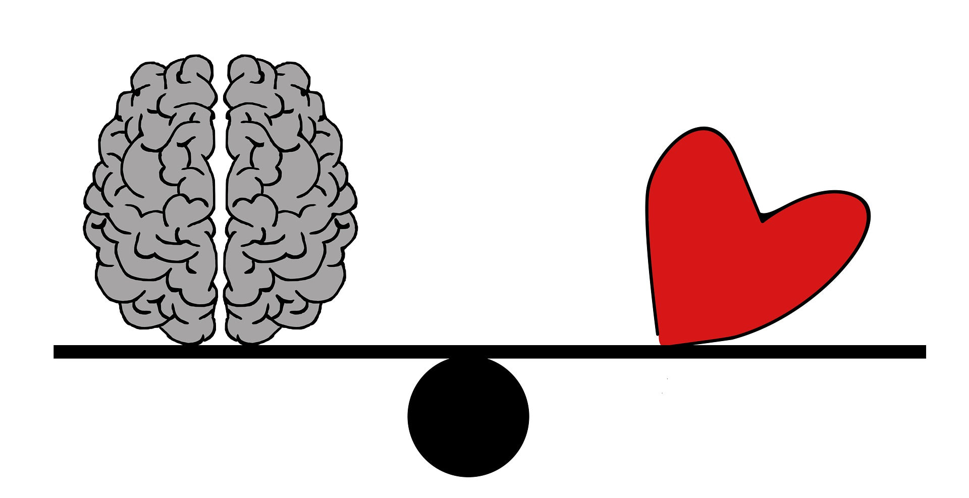 Heart and brain see saw