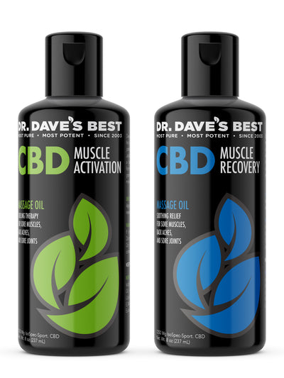 Dr. Dave's Best CBD Massage Oil Bundle