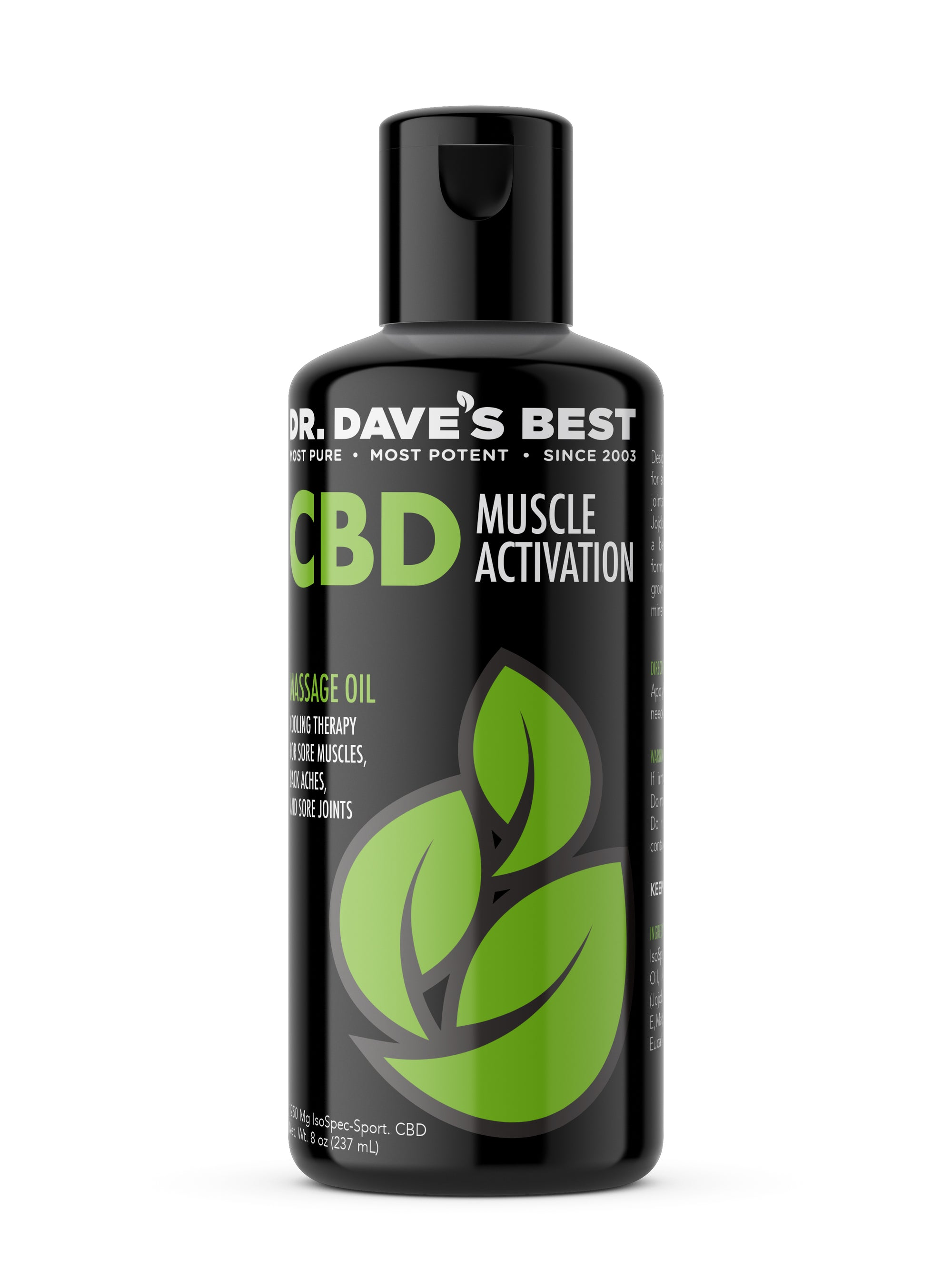 Dr. Dave's Best CBD Massage Oil - Activation